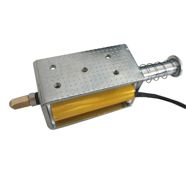 DC12V 15N/25mm Open Frame Push Type Solenoid Electromagnet